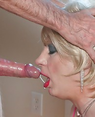 Cock sucking and posing crossdressers having a lot of fun.