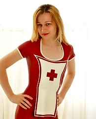 Sexy tgirl nurse shows off her hot body and horny nurse outfit