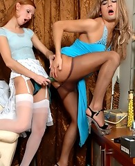 Sissy guy welcomes his girlfriend�s wild strap-on invasion with an open ass