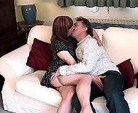 Lucimay takes a cock deep in her mouth then gets her ass spanked