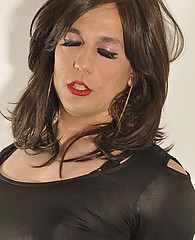 TGirl Melanie is an incredibly big show off, but with pins like that, can you blame her?