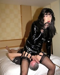 Yvette gets her feet and asshole worshipped by masked man