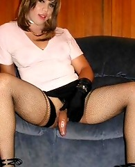 A lot of cock fun in this slutty crossdresser shoot