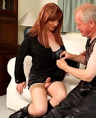 Lucky fan gets his cock sucked hard by Tgirl Lucimay