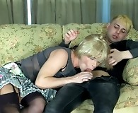Dressed like a luscious femme naughty sissy gets his ass packed in gay sex